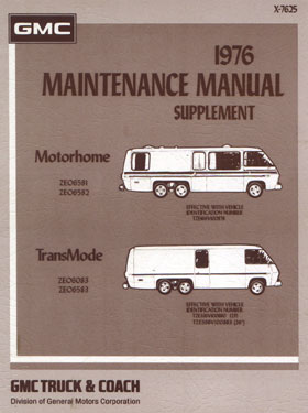 1976 GMC Maintenance Manual Supplement